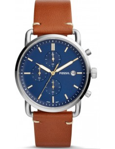 Chic Time | Montre Homme Fossil The Commuter FS5401 Bracelet cuir marron  | Prix : 194,65 €
