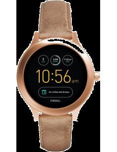 Chic Time | Montre Connectée Fossil Q Venture FTW6005 Bracelet Cuir  | Prix : 299,00€