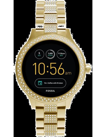 Chic Time | Montre Connectée Fossil Q Venture FTW6001 Bracelet Acier Doré  | Prix : 254,15€