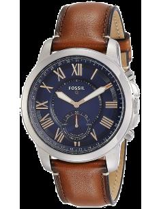 Chic Time | Montre Connectée Hybride Homme Fossil Q Grant FTW1122 Bracelet Cuir Marron  | Prix : 161,10€
