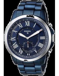 Chic Time | Montre Connectée Fossil Q Grant FTW1140 Bracelet Acier Bleu  | Prix : 199,00€
