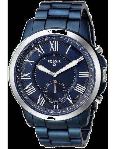 Chic Time   Montre Connectée Fossil Q Grant FTW1140 Bracelet Acier Bleu    Prix : 199,00€