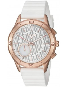 Chic Time | Montre Connectée Fossil Q Modern Pursuit FTW1135 Bracelet Gomme Blanc  | Prix : 299,00 €