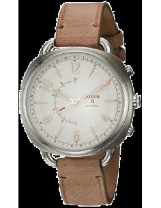 Chic Time | Montre Connectée Fossil Q Accomplice FTW1200 Bracelet Cuir Brun  | Prix : 161,10€