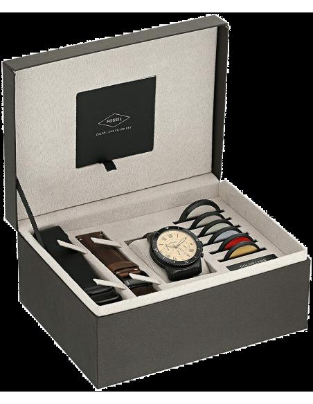Chic Time | Montre Homme Fossil Grant FS5250SET Noir  | Prix : 299,00€