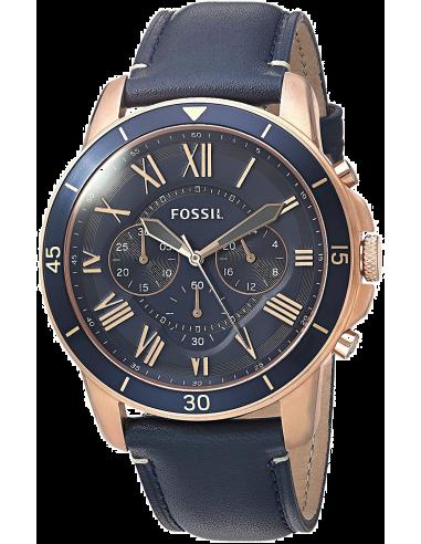 Chic Time | Montre Homme Fossil Grant FS5237 Bleu  | Prix : 159,00€