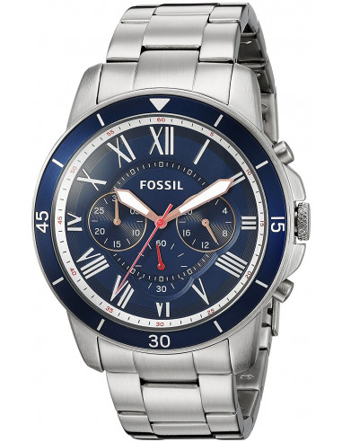 Chic Time | Montre Homme Fossil Grant FS5238 Argent  | Prix : 126,65 €