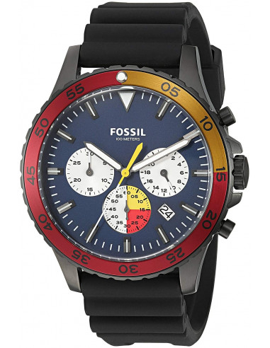 Chic Time   Montre Homme Fossil Crewmaster CH3058 Noir    Prix : 159,00€