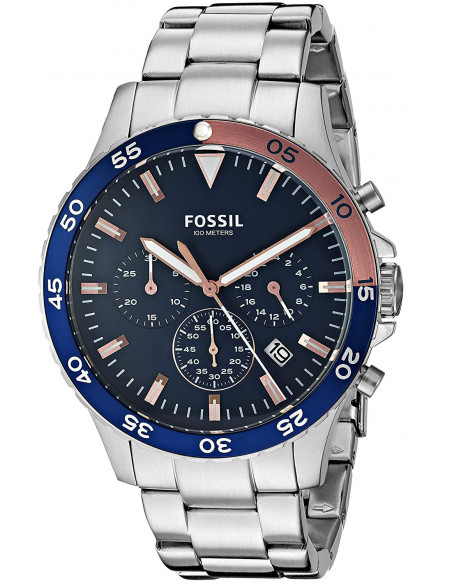 Chic Time | Montre Homme Fossil Crewmaster CH3059 Argent  | Prix : 138,99 €