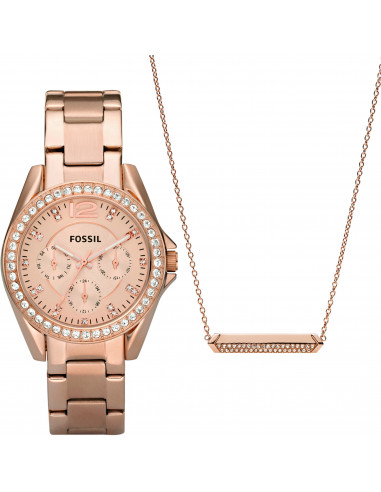 Chic Time | Montre Femme Fossil Riley ES4138SET Or Rose  | Prix : 159,00€