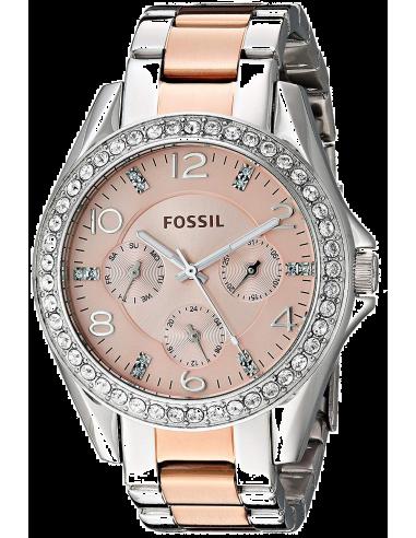 Chic Time | Montre Femme Fossil Riley ES4145 Argent  | Prix : 139,00€