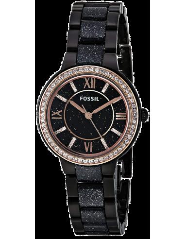 Chic Time   Montre Femme Fossil Virginia ES4118 Noir    Prix : 149,00€