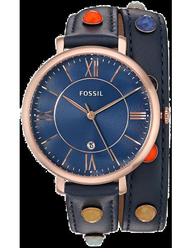 Chic Time | Montre Femme Fossil Jacqueline ES4102 Bleu  | Prix : 159,00€