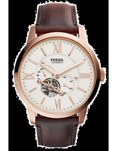 Chic Time | Montre Homme Fossil Townsman Squelette ME3105 Bracelet cuir marron  | Prix : 228,65€