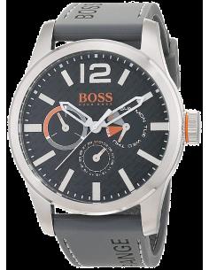Chic Time | Montre Homme Boss Orange 1513251 Bracelet silicone gris  | Prix : 152,15€