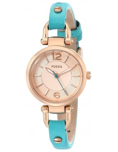 Chic Time   Montre Femme Fossil Georgia ES3744 Bleu    Prix : 65,45€