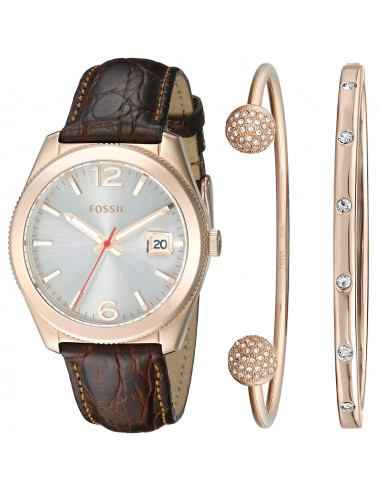 Chic Time | Montre Femme Fossil Perfect Boyfriend ES3770SET Marron  | Prix : 229,00€