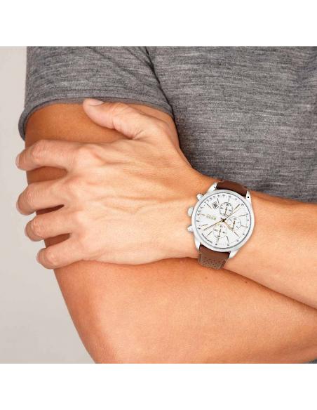 Chic Time | Montre Hugo Boss Grand Prix 1513475 Bracelet en cuir marron  | Prix : 279,65€
