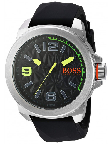 Chic Time   Montre Homme Hugo Boss Boss Orange 1513375 Noir    Prix : 169,00€