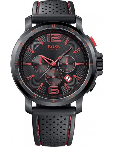Chic Time | Montre Hugo Boss Black 1512597 Bracelet en silicone perforé noir  | Prix : 239,20 €
