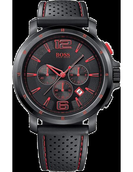 Chic Time | Montre Hugo Boss Black 1512597 Bracelet en silicone perforé noir  | Prix : 239,20€