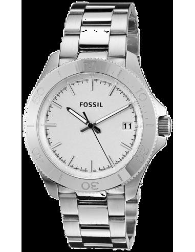 Chic Time | Montre Homme Fossil Retro Traveler AM4440 Cadran blanc avec lunette typée sport  | Prix : 119,00€