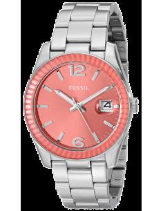 Chic Time | Montre Femme Fossil Perfect Boyfriend ES3729 Lunette crantée couleur rose  | Prix : 69,50€