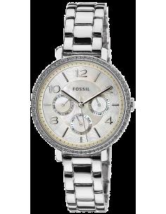 Chic Time | Montre Femme Fossil Jacqueline ES3755 Bracelet Argenté En Acier Scintillant  | Prix : 79,50€