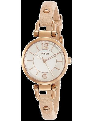 Chic Time   Montre Fossil Georgia ES3745 bracelet Cuir Beige et Boîtier Doré rose    Prix : 111,30€