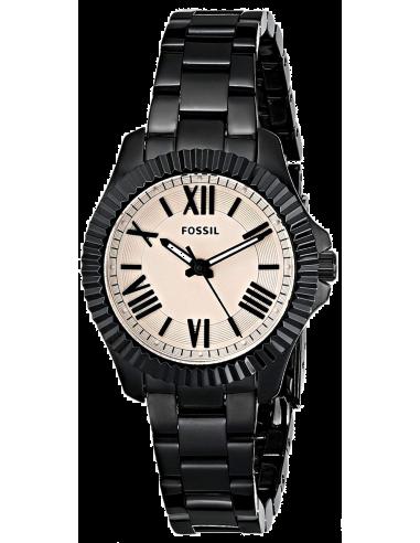 Chic Time | Montre Femme Fossil Cecile AM4614 Bracelet noir en acier inoxydable  | Prix : 189,00€