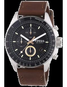 Chic Time | Montre Homme Fossil Decker CH2885 Bracelet marron en cuir  | Prix : 225,00€