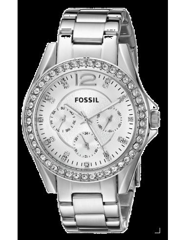 Chic Time   Montre Femme Fossil Riley ES3202 Argent    Prix : 109,00€