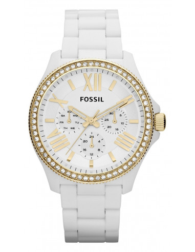 Chic Time | Montre Femme Fossil Cecile AM4493 Blanche  | Prix : 111,20 €