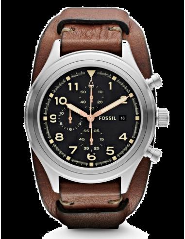 Chic Time | Montre Homme Fossil Compass JR1432 Bracelet Marron  | Prix : 157,90€