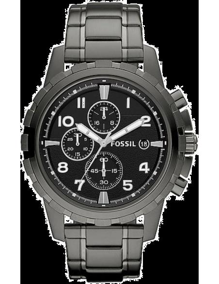 Chic Time | Montre Homme Fossil Dean FS4721 Bracelet acier IP gris  | Prix : 149,25€