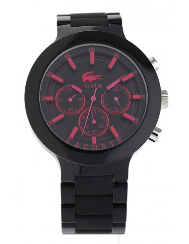 Chic Time   Montre Homme Lacoste Bornéo 2010771 Noir    Prix : 172,00€