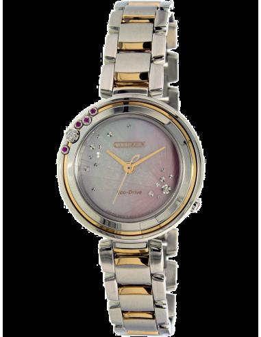 Chic Time   Montre Femme Citizen EM0466-53N Argent et Or    Prix : 602,99€