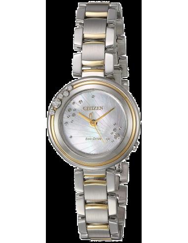 Chic Time   Montre Femme Citizen EM0464-59D Argent et Or    Prix : 425,40€