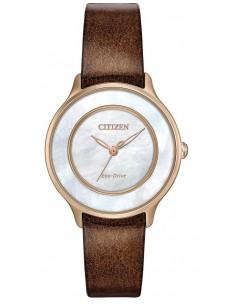 Chic Time | Montre Femme Citizen EM0383-08D Marron  | Prix : 185,40€