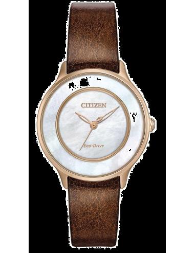 Chic Time   Montre Femme Citizen EM0383-08D Marron    Prix : 185,40€
