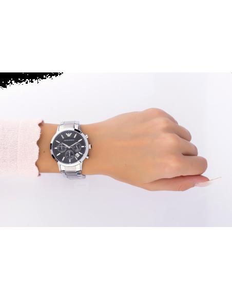 Chic Time | Montre Femme Emporio Armani AR2435 chrono argenté  | Prix : 359,00€