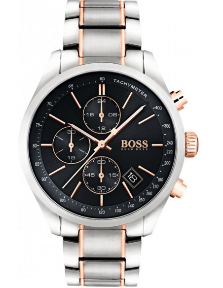 Chic Time   Montre Homme Hugo Boss Grand Prix 1513473 Argent bracelet    Prix : 399,20€