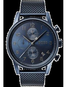 Chic Time | Montre Homme Hugo Boss Navigator 1513538 Bleu avec bracelet en mesh  | Prix : 319,20€