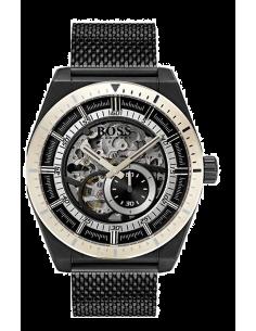 Chic Time | Montre Homme Hugo Boss Signature 1513655 automatique avec noir bracelet en mesh  | Prix : 559,20€