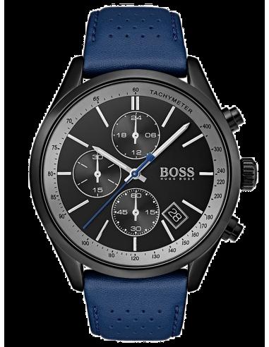 Chic Time   Montre Homme Hugo Boss Grand Prix 1513563 Bleu et noir    Prix : 329,00€