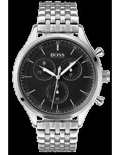 Chic Time | Montre Hugo Boss Companion 1513652 cadran en émail noir  | Prix : 399,00€