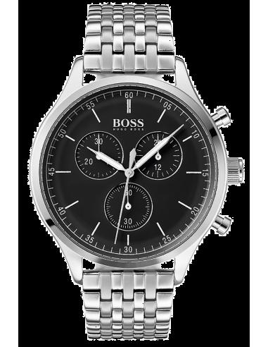 Chic Time   Montre Hugo Boss Companion 1513652 cadran en émail noir    Prix : 279,99€