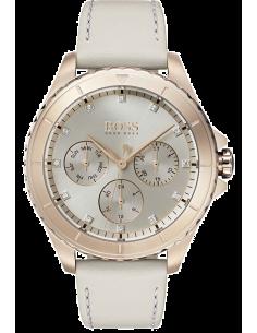 Chic Time | Montre Femme Hugo Boss Premiere 1502447 Or rose avec cristaux  | Prix : 223,20€