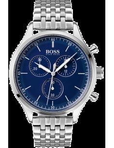 Chic Time | Montre Hugo Boss Companion 1513653 chronographe à cadran en émail bleu  | Prix : 319,20€
