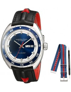 Chic Time   Montre Hamilton H35405741 American Classic Automatique et cadran bleu    Prix : 895,50€